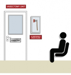 vasectomy vector image