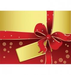 Xmas gift vector