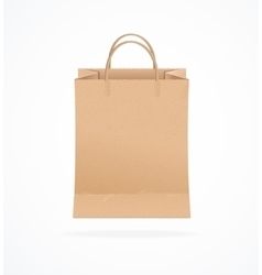Paper bag eco sale vector