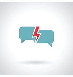 Speech bubble lightning vector