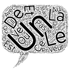 Le reve text background wordcloud concept vector