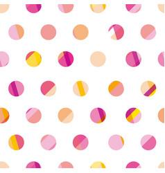 Modern polka dot seamless pattern concept surface vector