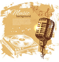 Music vintage background vector