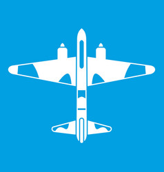 Military fighter aircraft icon white vector