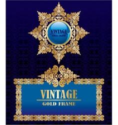gold vintage decorative frames vector image