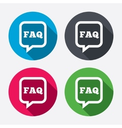 Faq information sign icon help symbol vector