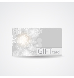 Abstract beautiful winter christmas gift card vector