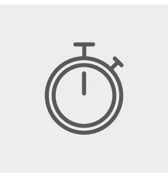 Stop watch thin line icon vector