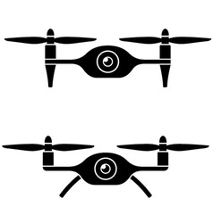 Rc drone quadcopter with camera black symbol vector