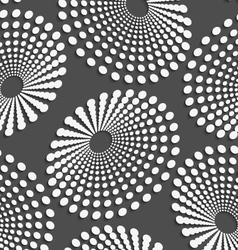 Geometrical pattern with white dotted concentric vector