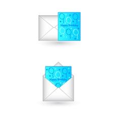 Happy birthday card in envelope vector