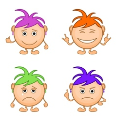 smilies girls set vector image