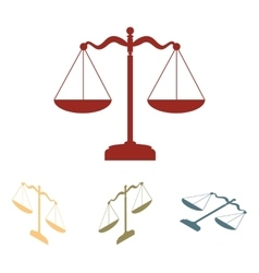 Scales balance icon set vector