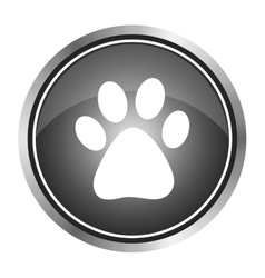 Icon footprint of an animal vector