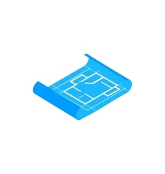 Building plan icon isometric 3d style vector