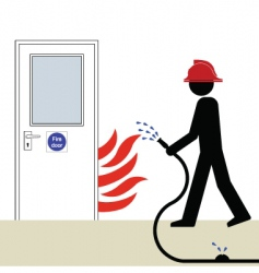 Fire door vector