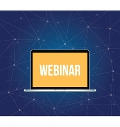 webinar concept with laptop and text vector image
