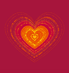 abstract heart hot concept in boho style vector image