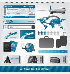 air travel design elements flight boarding vector image vector image