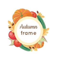 Autumn frame concept in flat design vector