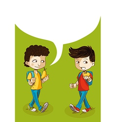 Back to school education kids with social bubble vector image vector image