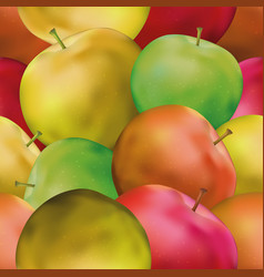 Background with apples vector