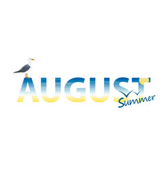 banner year in august vector image vector image