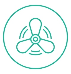 Boat propeller line icon vector image