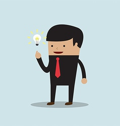 Businessman get the good idea vector image vector image
