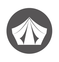Camping tent isolated icon vector