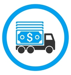 Cash lorry rounded icon vector