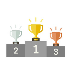 championish cups flat icons vector image vector image