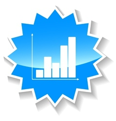 Chart blue icon vector