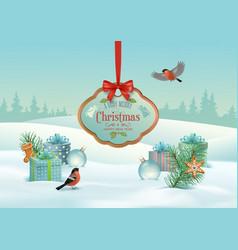 christmas winter landscape vector image