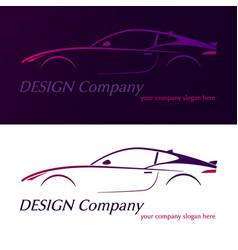 company logo element template violet car vector image vector image