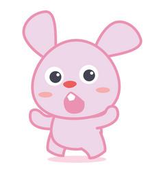 Cute bunny cartoon collection style vector