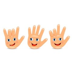 Funny palm hand vector