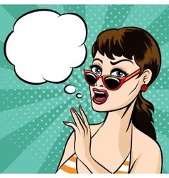 Girl in Glasses vector image