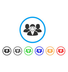 Guy friends rounded icon vector