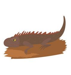 Iguana icon cartoon style vector