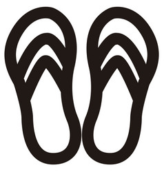 Isolated sandals outline vector