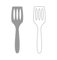 Kitchen spatula grey set icon vector