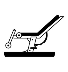 Leg curl gym machine fitness icon image vector