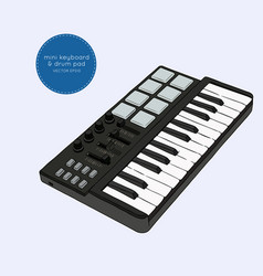 mini keyboard sketch vector image vector image
