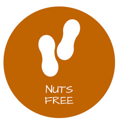 nuts free label food intolerance symbols vector image