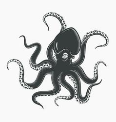 octopus tattoo or squid marine mascot vector image