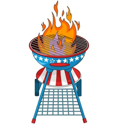 Patriotic barbeque grill vector