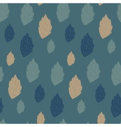 Seamless autumn pattern with fallen leaves vector image