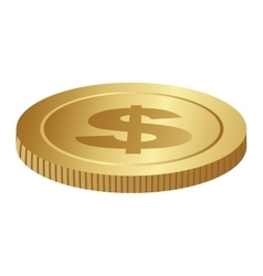 Single coin icon image vector