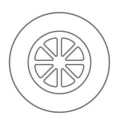 Slice of lemon line icon vector